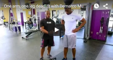 One arm, one leg deadlift with Demarco Murray - EAS Fitness and Training