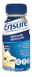 Ensure Regular can help you get the calories and nutrients you need without filling you up.