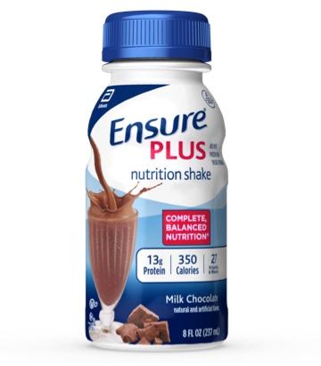 2cd98f2943 8 oz Ready-To-Drink Ensure® Plus Milk Chocolate Protein Shake Bottle