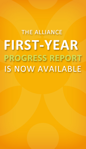 The alliance first-year progress report is now available