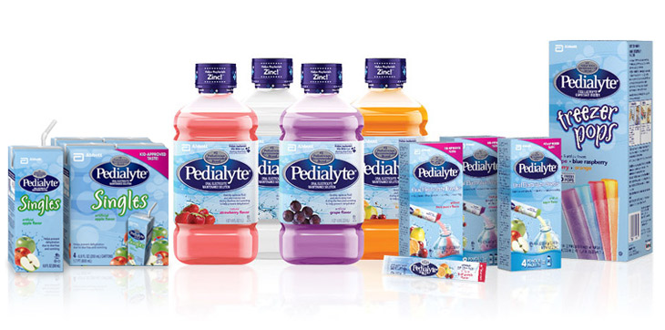 Pedialyte products are the #1 pediatrician recommended electrolyte solution.
