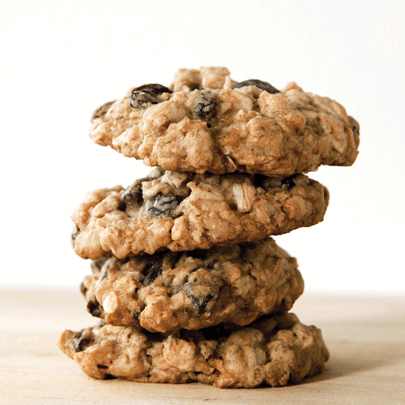 PediaSure® recipe for a stack of oatmeal chocolate chip raisin cookies