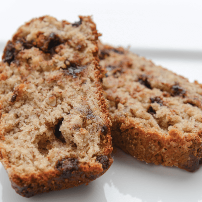 PediaSure® recipe for sliced dark chocolate chip banana bread