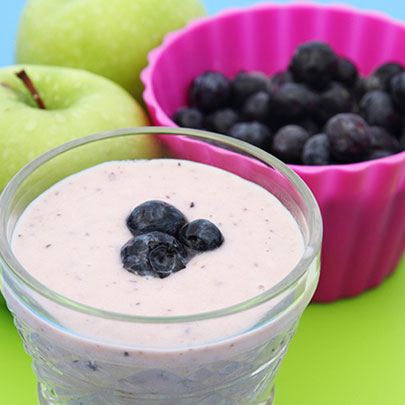 Vanilla fruit smoothie recipe for kids, made with PediaSure Complete.