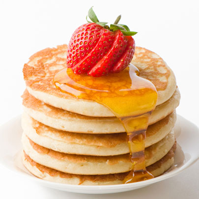 PediaSure® recipe for delicious pancakes with strawberries