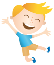 Happy boy jumping symbolizing growth from using 2 PediaSure® per day