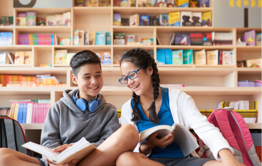 students-reading-in-library