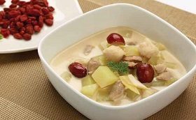 green papaya milky fish soup