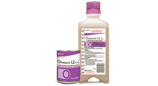 Osmolite® 1.2 Cal high protein, isotonic, low-residue liquid formula in can and bottle format