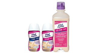 Vital® Peptide 1 Cal and Vital® Peptide 1.5 Cal in bottle and feeding formats