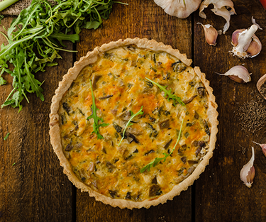 Cheddar Chicken Quiche