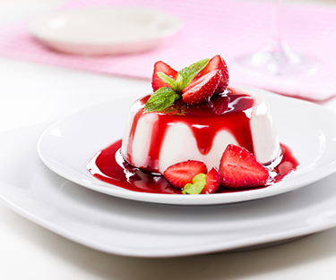 Panna Cotta Dessert with Berry Compote
