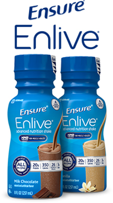 Ensure Enlive Advanced nutritional shake with high protein for rebuilding muscle