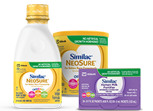 Similac NeoSure premature infant formula and Similac Human Milk Fortifier Hydrolyzed Protein Concentrated Liquid