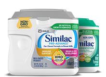 Similac Pro-Advance and Similac for Supplementation Non-GMO* Infant Formulas (*Ingredients not genetically engineered)