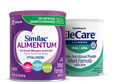 Similac Alimentum and EleCare infant formulas