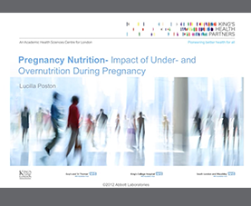 A slide from a presentation on pregnancy nutrition