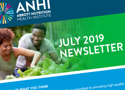 A partial image of ANHI's July 2019 Newsletter