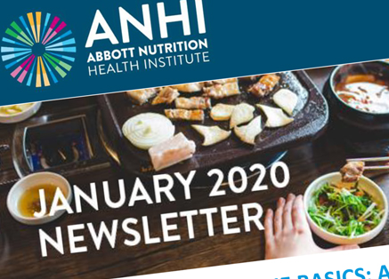 A partial image of ANHI's January 2020 Newsletter