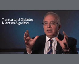 Osama Hamdy discusses the transcultural diabetes nutrition algorithm.