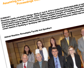 The cover page of the Malnutrition Biomarkers conference proceedings.