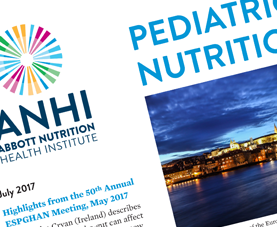 A preview of the cover page of Pediatric Nutrition News.