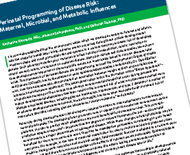 Cover page of Perinatal Programming of Disease Risk PDF