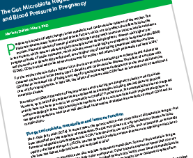 Cover page of The Gut Microbiome & Pregnancy PDF