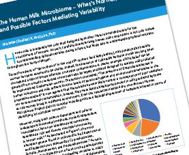 Cover page of The Human Milk Microbiome PDF