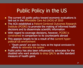 A slide introduces the topic of public policy in the US at the 113th Abbott Nutrition Research Conference