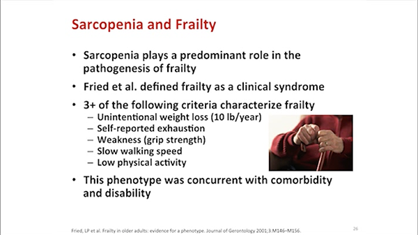 A slide on sarcopenia and frailty