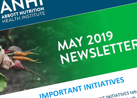 A partial image of the ANHI May 2019 Newsletter