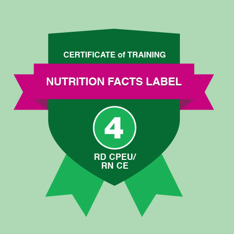 Certificate of Training in Decoding the New Nutrition Facts Label