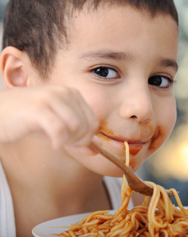 banner-tasty-food-messy-child-eating-spaghetti
