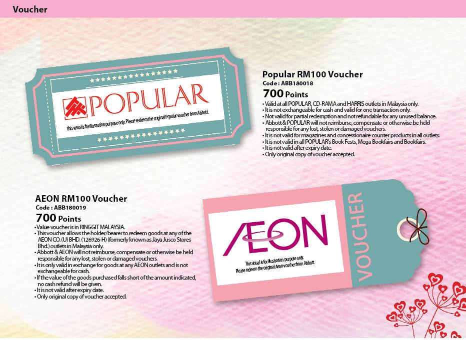 Popular and Aeon Voucher