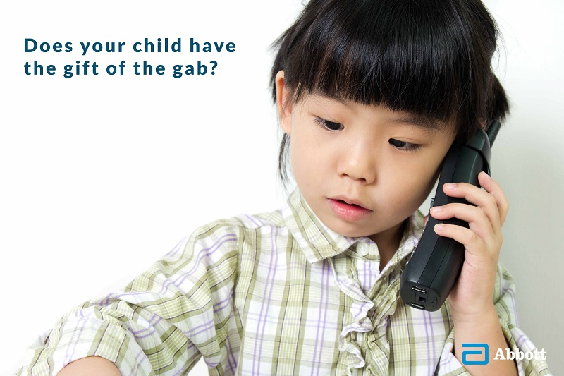 Does your child have the gift of the gab
