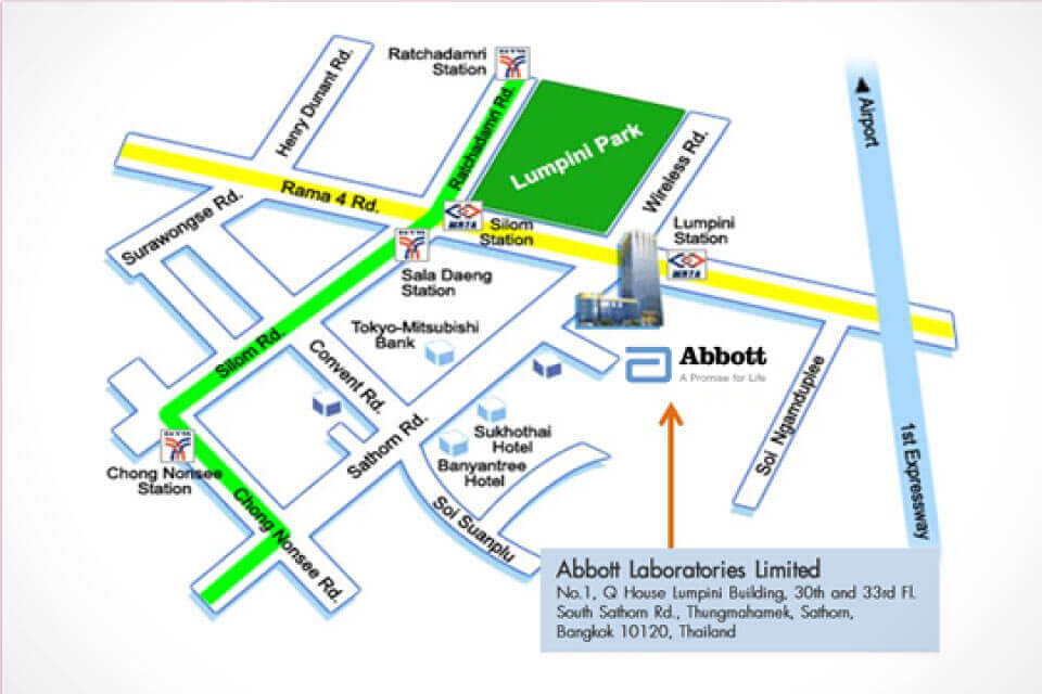 Abbott Thailand map
