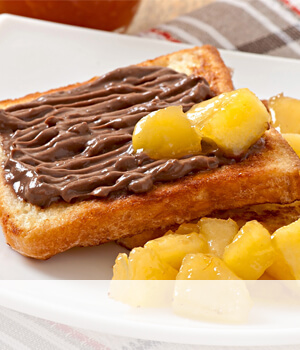 Brioche and chocolate cream sandwich