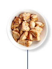 This high fibre meal plan includes 60g of grilled chicken