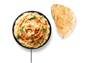 This Glucerna® meal plan includes hummus & half of a whole-grain pita