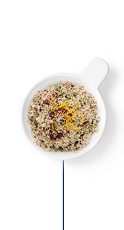 This Glucerna® high fibre meal plan includes tri-color quinoa