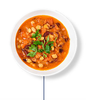 This Glucerna® heart healthy meal plan includes turkey and bean chili