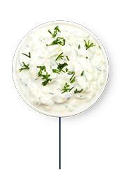 This Glucerna® meal plan includes tzatziki for dipping sauce