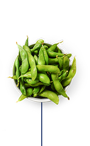 This Glucerna® vegetarian meal plan includes edamame in shell