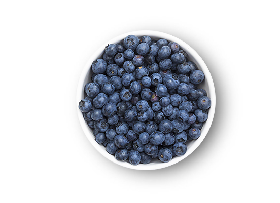 This Glucerna® high fibre meal plan includes fresh blueberries