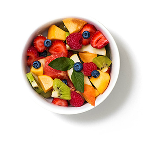This Glucerna® high fibre meal plan includes a fresh fruit salad