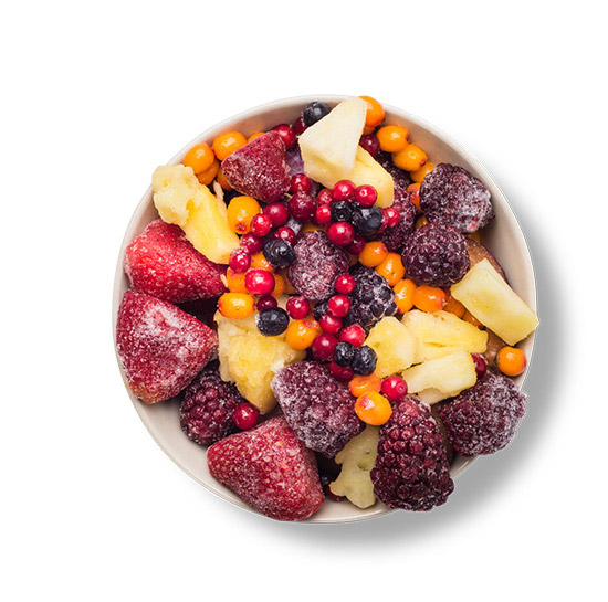 This Glucerna® heart healthy meal plan includes mixed frozen fruit