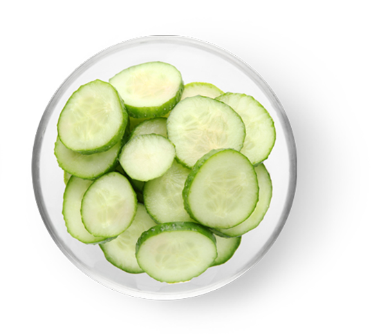 This Glucerna® heart healthy meal plan includes cucumber slices