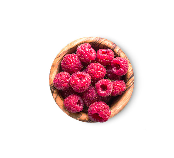 This high protein meal plan includes a 1/2 cup of raspberries