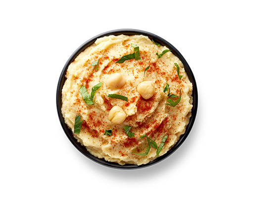 This Glucerna® vegetarian meal plan includes hummus